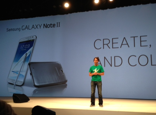 Todd Samson at Samsung Galaxy Note II launch event
