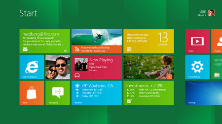 Default Windows 8 interface