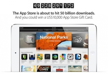 US$10,000 gift card waiting for 50 billionth App Store download