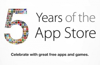 App Store fifth anniversary means five free apps and five free games