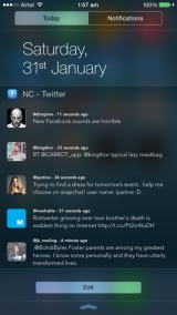 NC - Twitter Widget for Notification Centre, for iOS