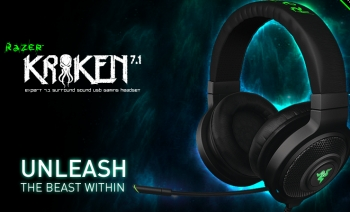 Razer Kraken, 7.1 surround sound, USB gaming headset