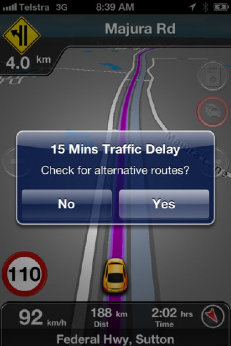 MetroView GPS app delivers TomTom traffic data