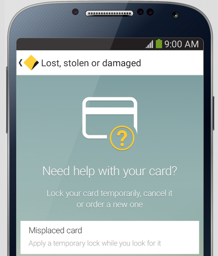 Full credit to CommBank's lock, block and temporary card tackle