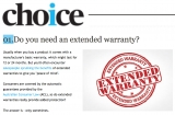 Your CHOICE to choose an extended warranty - or not