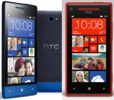 HTC 8S on left, 8X on right