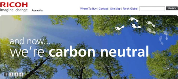 Ricoh makes printing carbon neutral