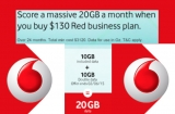 Vodafone delivers up to 20GB 'double data' for new Red customers