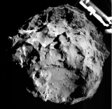 Image of Philae descending toward Comet 67P
