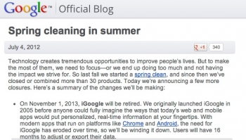 iGoogle goes byeGoogle in move Google users are hating