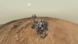 The panoramic self-portrait is made up of numerous images taken by Curiosity