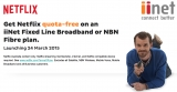 iiNet flicks broadband quotas with quota-free Netflix