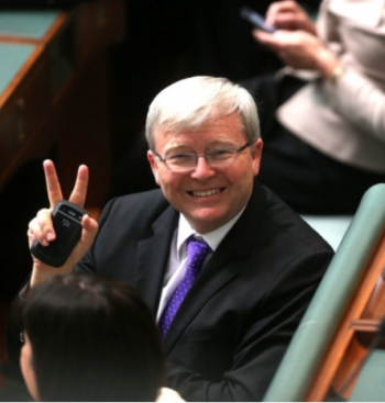 Kevin Rudd's Facebook photo