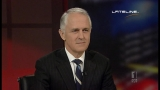 Communications Minister Malcolm Turnbull appearing on Lateline