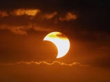 An image of a partial solar eclipse from the past