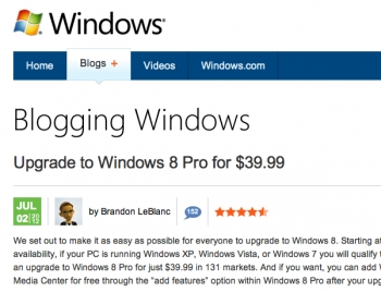 Microsoft's $39.99 Windows 8 upgrade cheap, but there's a catch!