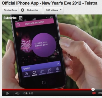 Telstra's new app for New Year's Eve