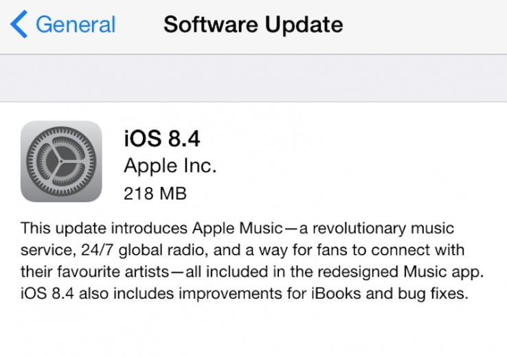 iOS 8.4 available now: bug fixes, Apple Music and iBooks