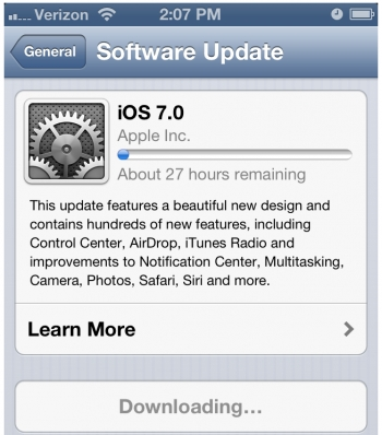 iOS 7 slows the internet to a crawl