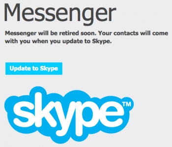 Skype: get the message as MS kills Messenger on March 15