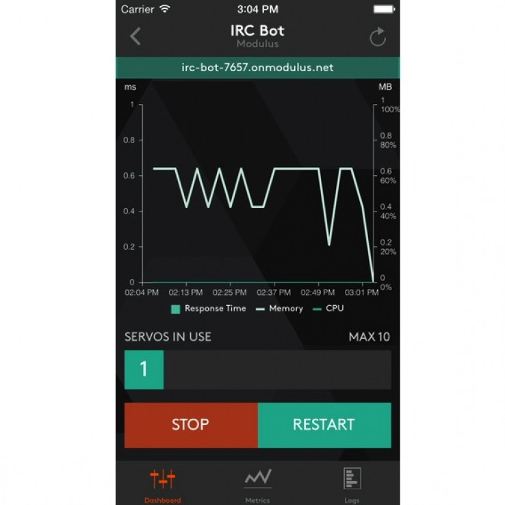 Modulus provides iOS monitoring and management app