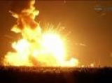 Antares rocket and Cygnus spacecraft explodes