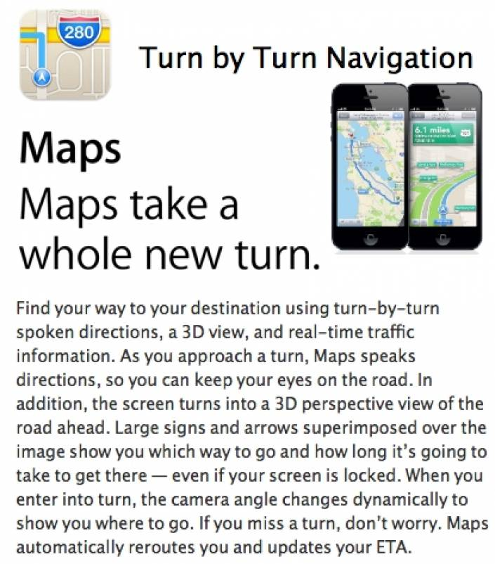 Apple iOS 6 Maps gets turn-by-turn in Australia