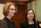 PM Julia Gillard and Huawei's Sun Yafang