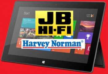 Microsoft's Surface officially surfaces at Harvey Norman, JB HiFi