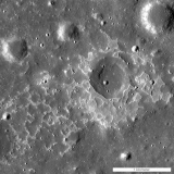 "NASA states, ""The feature called Maskelyne is one of many newly discovered young volcanic deposits on the Moon. Called irregular mare patches, these areas are thought to be remnants of small basaltic eruptions that occurred much later than the commonly accepted end of lunar volcanism, 1 to 1.5 billion years ago"""