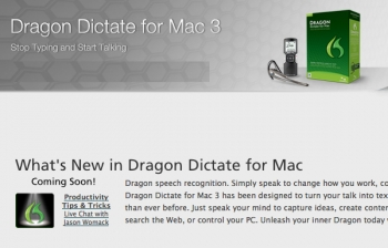 New from Nuance: Dragon Dictate for Mac 3!