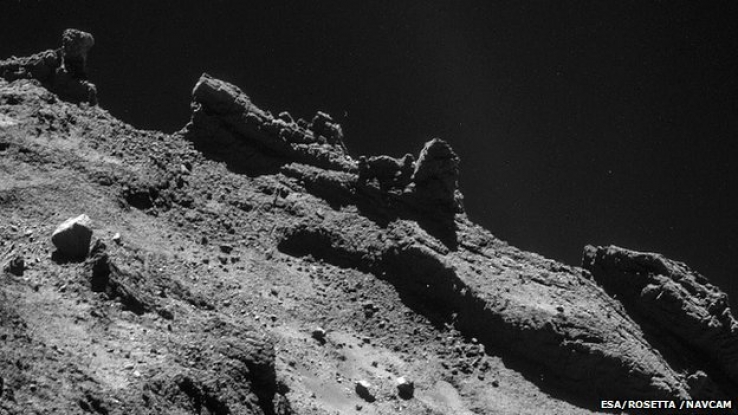 The surface of Comet 67P as taken by Philae