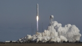 Antares rocket lifts off from launchpad at NASA facility on Wallops Island Virginia