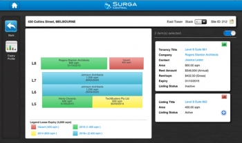 Cloud-Based Property Stacking Plans Arrive on iPad With Surga Central