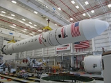 Antares rocket preparing for its launch on April 17, 2013