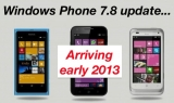 Windows Phone 7.8: update coming early 2013