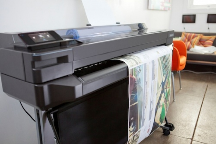 Entry-level large-format printers from HP include cloud printing