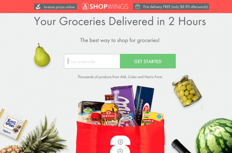 ShopWings opens down under, promises 2 hour home delivery