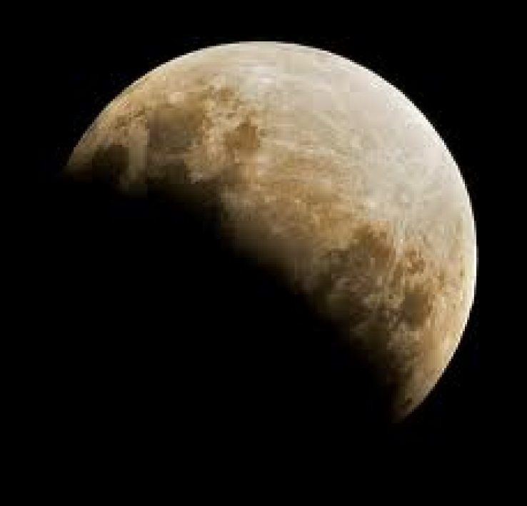 A partial lunar eclipse on June 26, 2010.