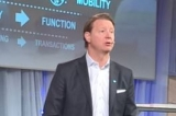 Vestberg on stage at MWC