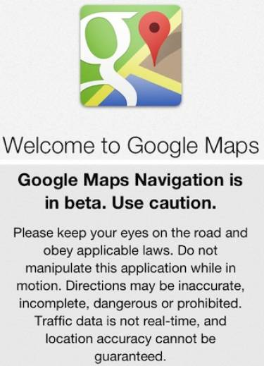 Google Maps on iOS at last: go ogle it!