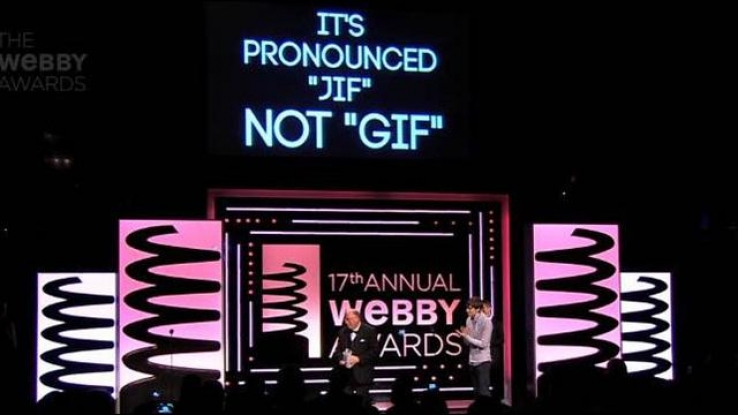 The GIF featured prominently at this year's Webby awards