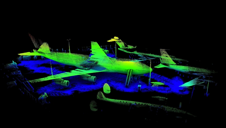Zebedee 3D scan of the Aviation Australia Boeing 747 in Brisbane QLD