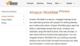 Amazon joins email market with WorkMail
