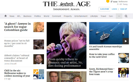 The Age website at 9am on Thursday.