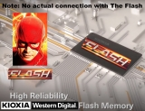 "Flash memory actually has nothing to do with comic-book character ""The Flash"""