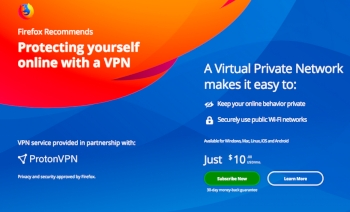 Mozilla to sell VPN subscriptions through Firefox