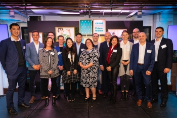 2018 Optus Future Makers finalists with their coaches