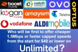 Which telco will be first with an unlimited 1.5Mbps plan for under $40?