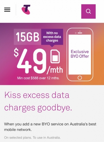 Telstra's great but annoying new $49 15GB 'Peace of mind' plan